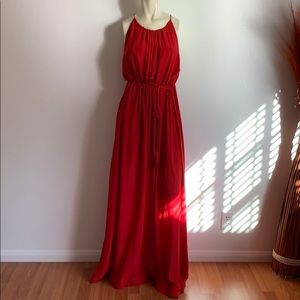 H&M red long dress.